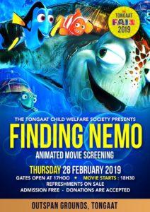cf 2019 poster - finding nemo movie night